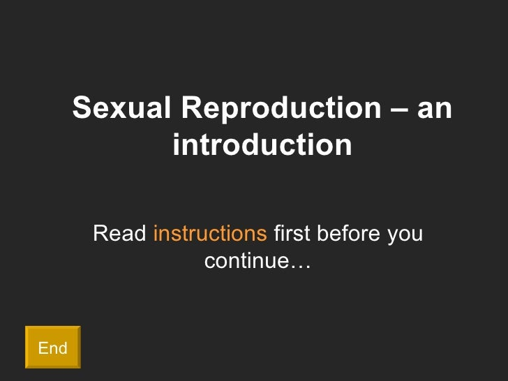 Introduction to sexual reproduction