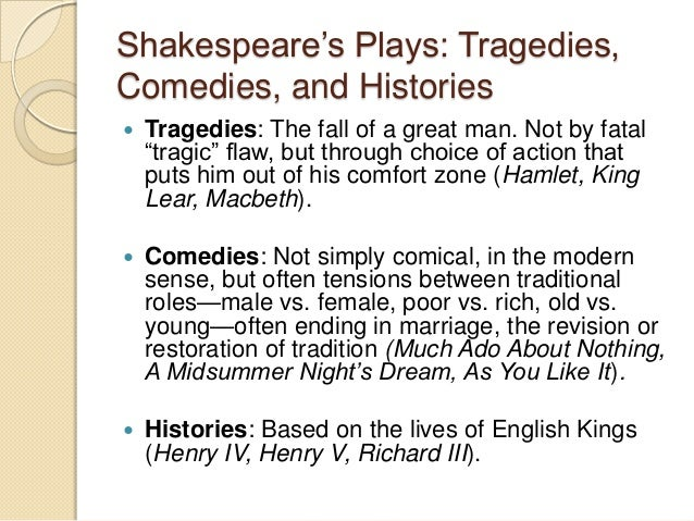 the pattern of shakespeares tragedies essay Free essay: the role of women in shakespeare's tragedies in shakespeare's tragedies and his plays in general, we can come across several types of female.
