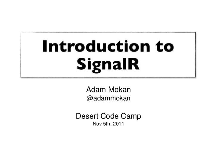 Introduction to SignalR