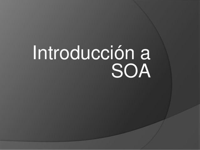 Introducción a SOA