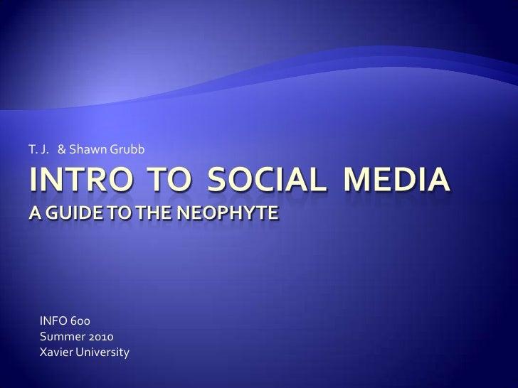 Intro to Social Media