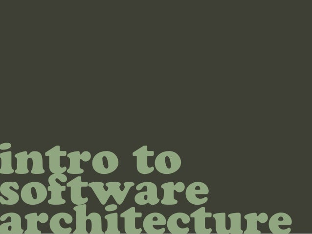 intro tosoftware