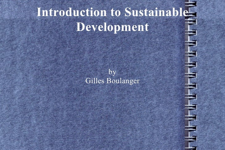 Intro To Sustainable Development