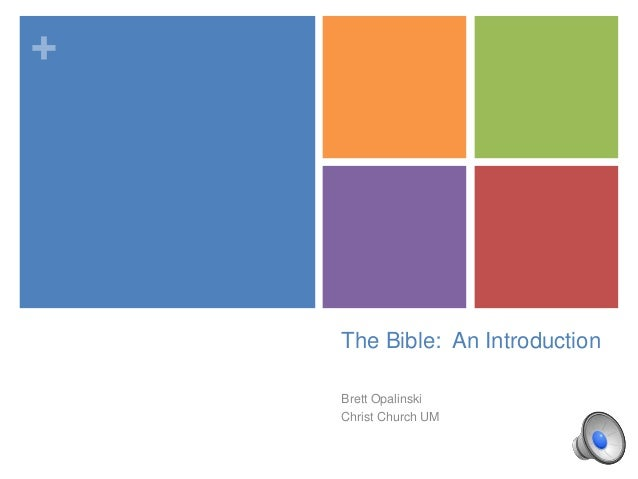 +  The Bible: An Introduction Brett Opalinski Christ Church UM