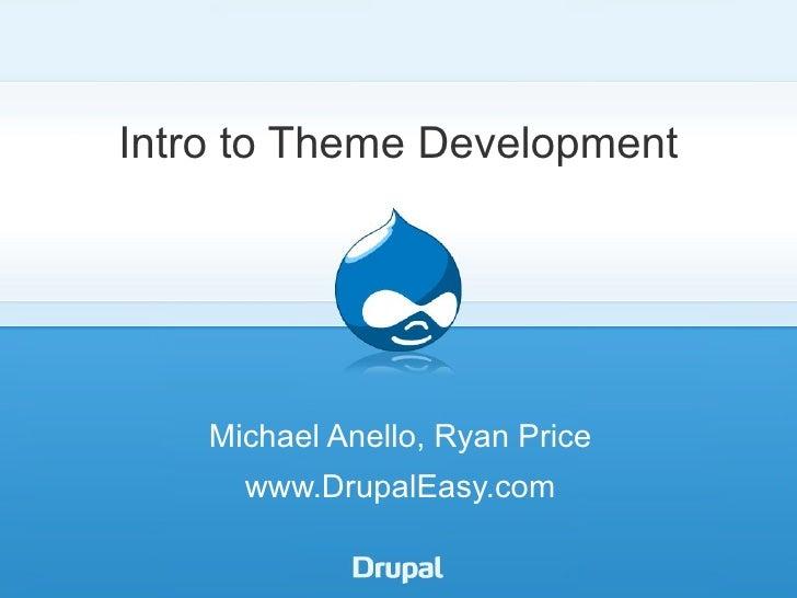 DrupalEasy: Intro to Theme Development