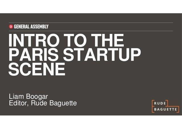 Rude Baguette - Intro to the Paris Startup Scene