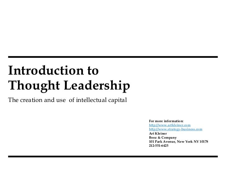Intro To Thought Leadership V5