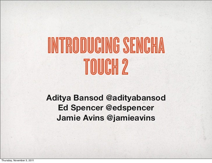 Introducing Sencha Touch 2