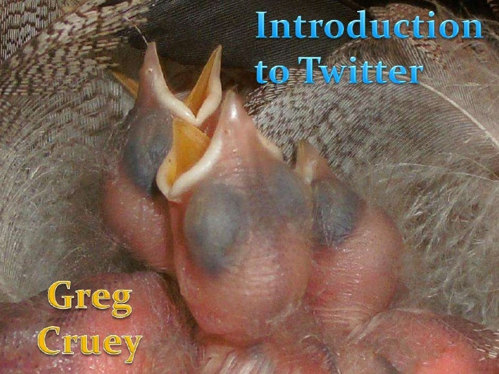 Introduction to Twitter<br />Greg Cruey<br />