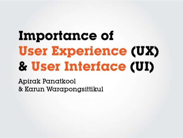 Importance of UX & UI