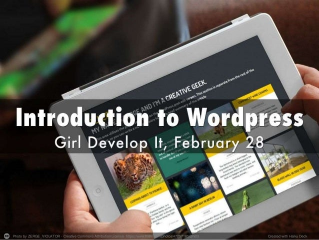 Intro to Wordpress Workshop
