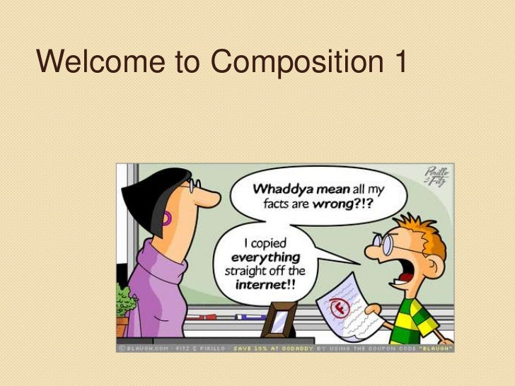 Welcome to Composition 1<br />
