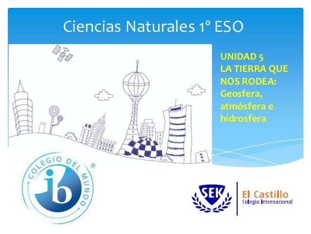Ciencias Naturales 1º ESO UNIDAD 5 LA TIERRA QUE NOS RODEA: Geosfera, atmósfera e hidrosfera