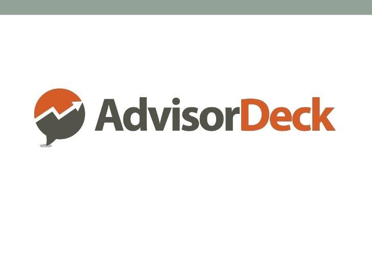 Intro to AdvisorDeck