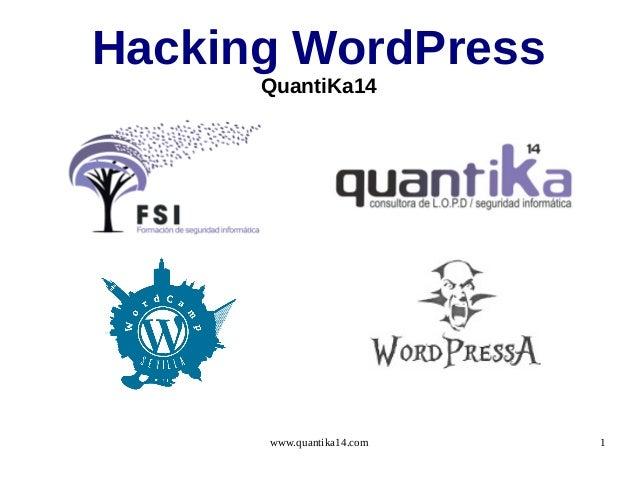 [Wordpressa]Hacking WordPress