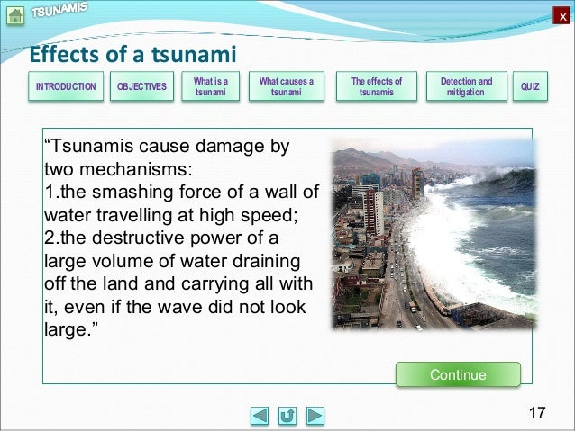 Tsunamis: the effects