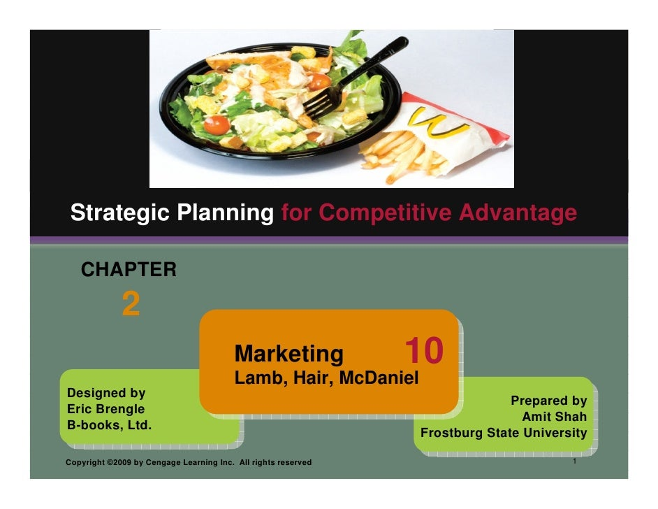 Strategic Planning for Competitive Advantage     CHAPTER              2                                          Marketing...