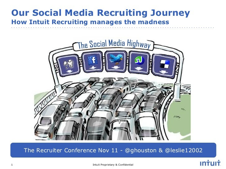 Our Social Media Recruiting Journey  How Intuit Recruiting manages the madness The Recruiter Conference Nov 11 - @ghouston...