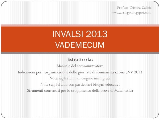 Invalsi 2013_Vademecum