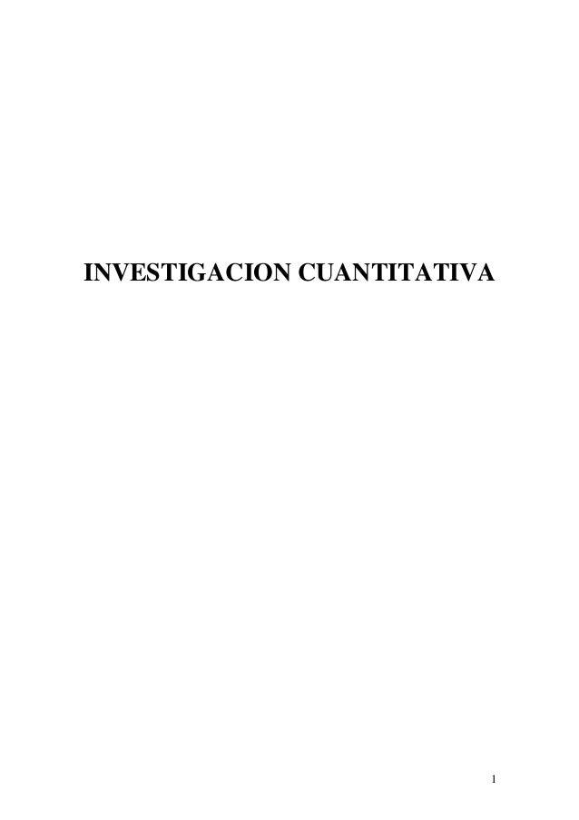 INVESTIGACION CUANTITATIVA                         1