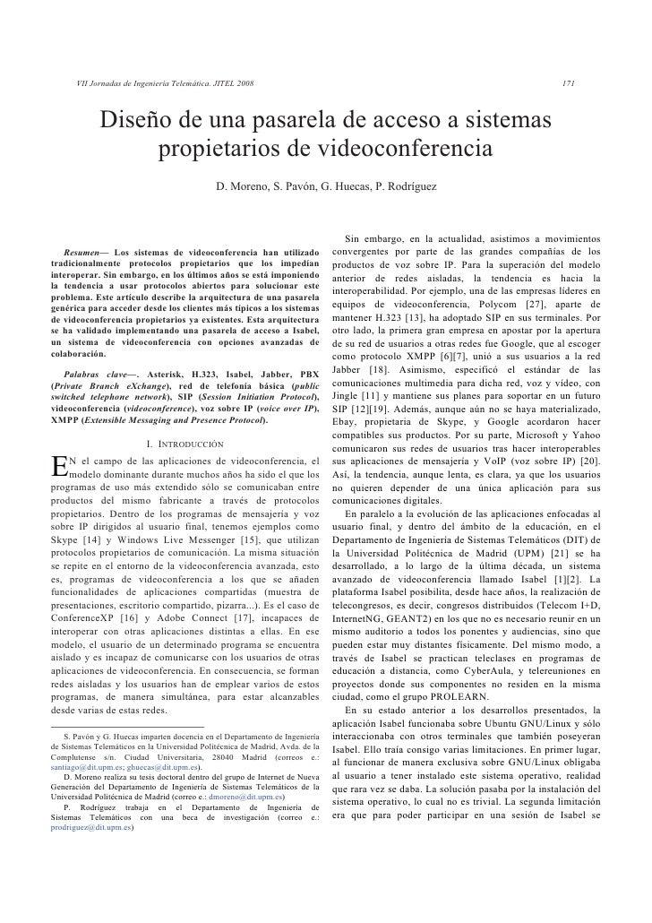 VII Jornadas de Ingeniería Telemática. JITEL 2008                                                                         ...