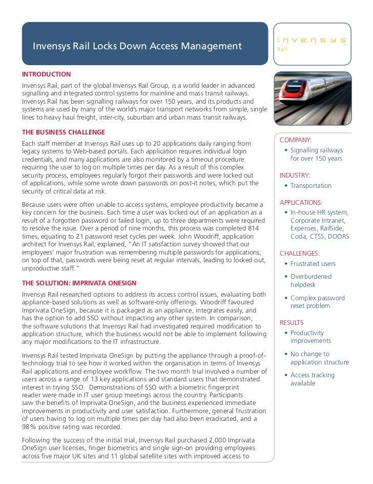Invensys Rail Success Story