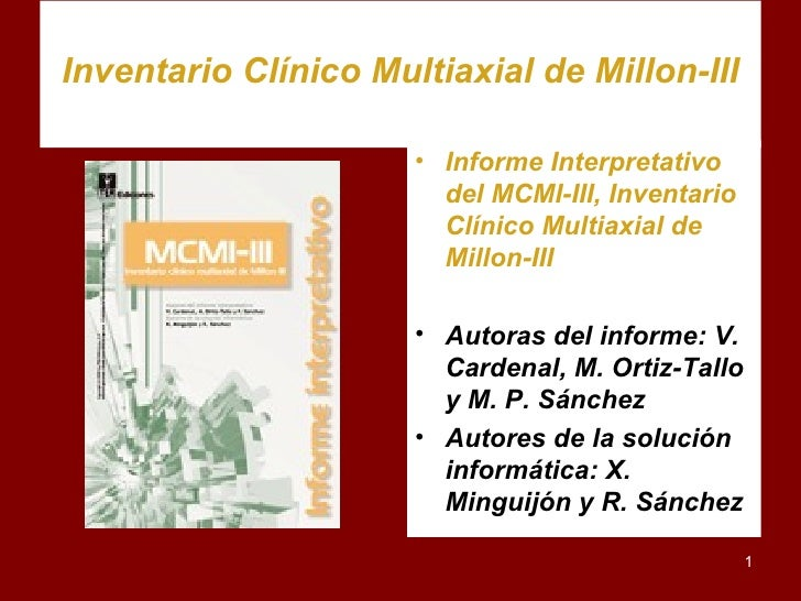 Inventario ClíNico Multiaxial De Millon Iii