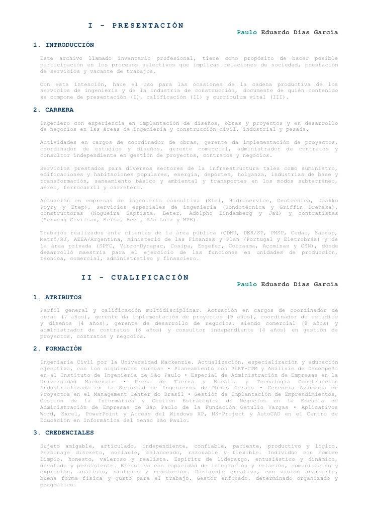 I - PRESENTACIÓN                                                            Paulo Eduardo Dias Garcia 1. INTRODUCCIÓN  Est...