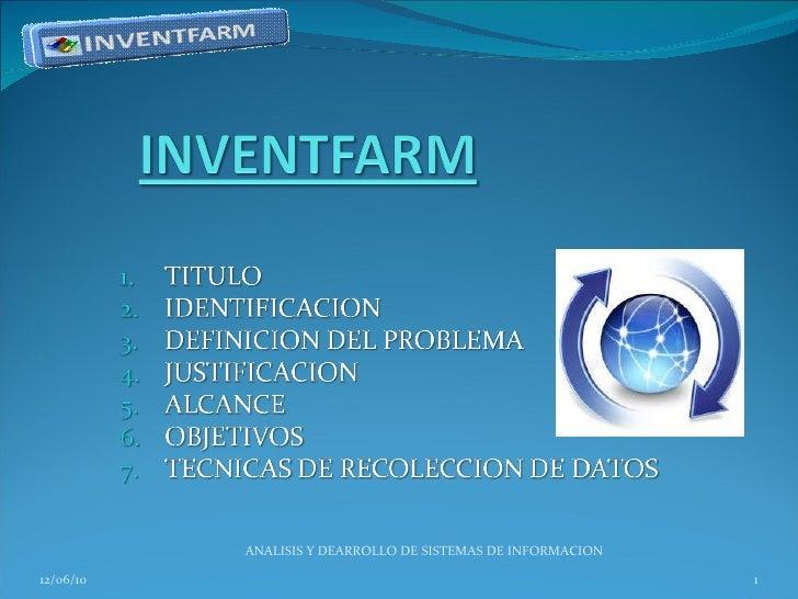 12/06/10 ANALISIS Y DEARROLLO DE SISTEMAS DE INFORMACION