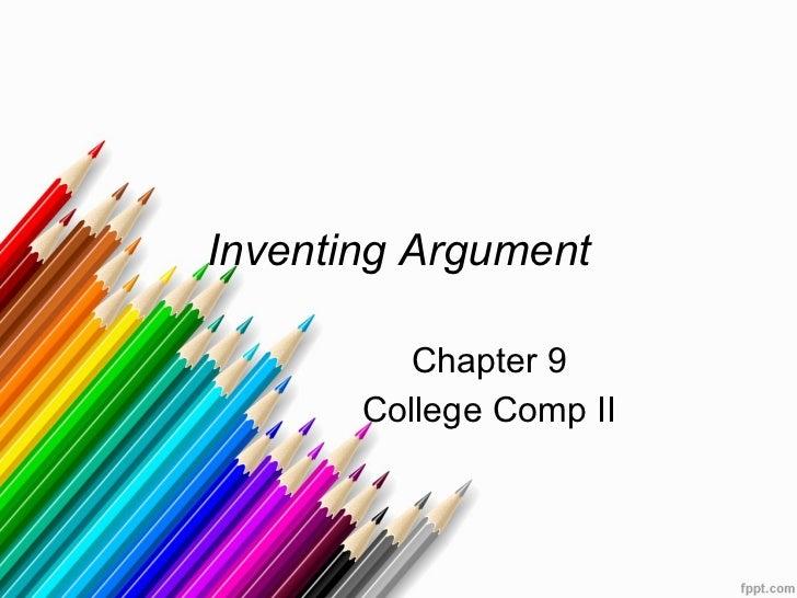 Inventing argument chap 9
