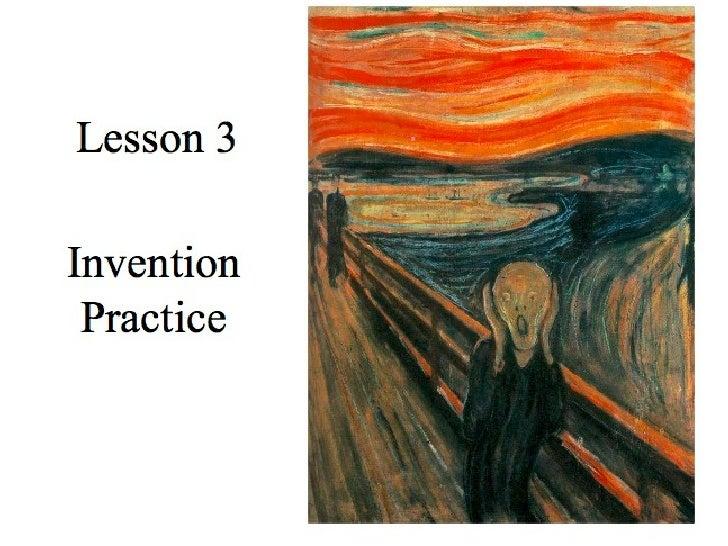 Invention Practice Lesson 3