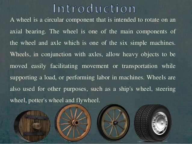 Essay on the invention of the wheel