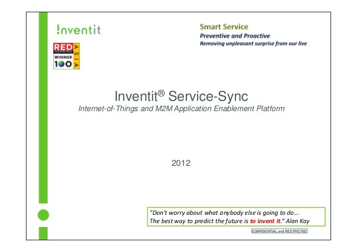 Inventit® Service-SyncInternet-of-Things and M2M Application Enablement Platform                            2012          ...