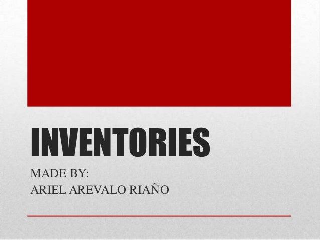 Inventories (1)