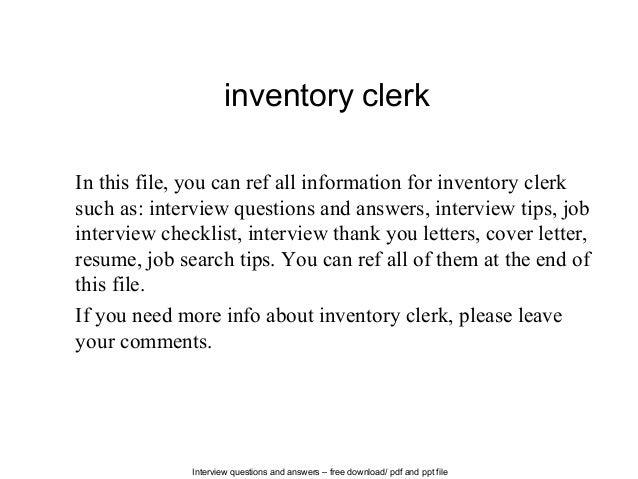 Inventory Control Clerk Resume Clerk Cover Letter Deputy Clerk Project  Manager Data Analyst Data Entry Clerk