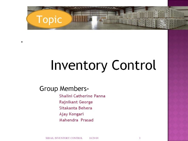Thesis on inventory management pdf
