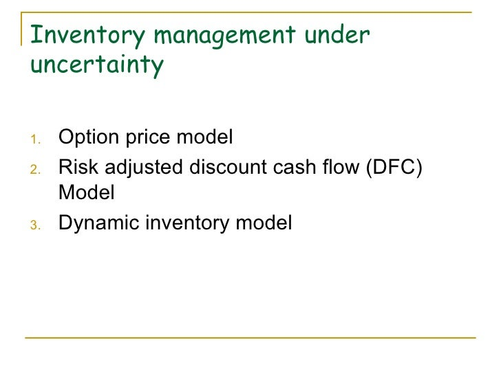 mba thesis on inventory management It was found that reorder point and order quantity were determined based on  arbitrary policy findings of this thesis regarding inventory control showed that  items.