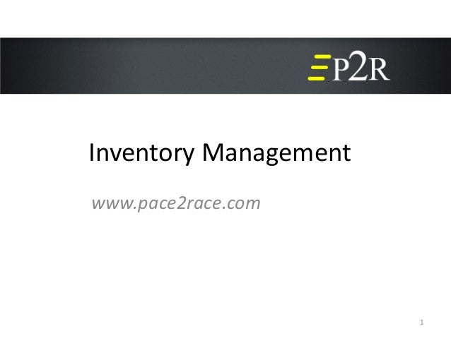 Inventory Management1www.pace2race.com