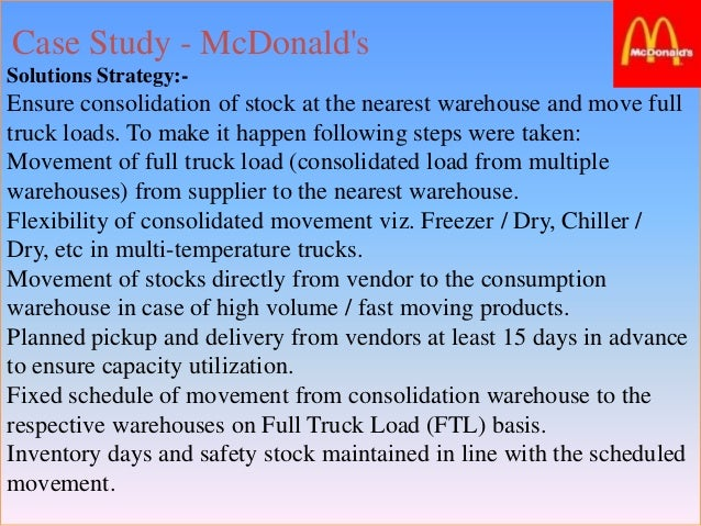 mcdonalds inventory management practice and its Mcdonalds: inventory management practice and its advantages by: piyush dewan (mba core-div a: i trimester) mcdonalds is one of the most popular fast food chains with a worldwide presence it can befound in 119 countries and has about 31,000 restaurants.