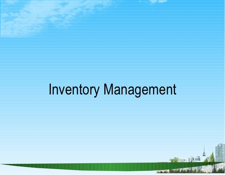 Inventory Management