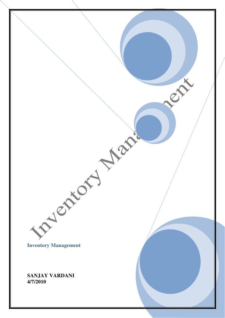 Inventory Management Project