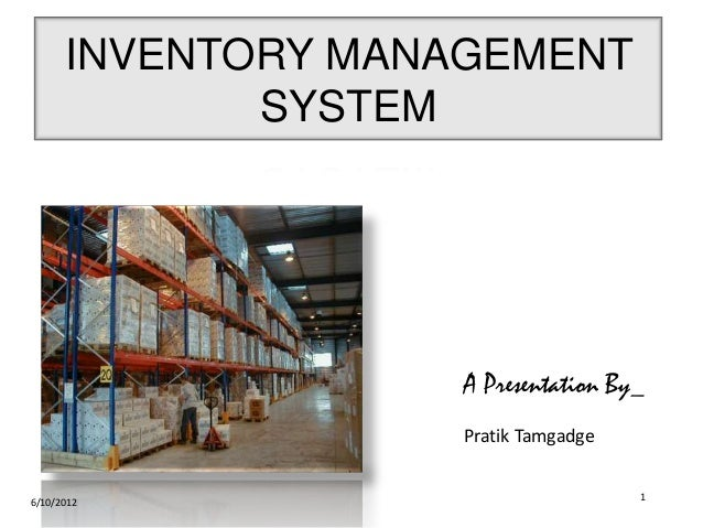 Improving Inventory Management in Small Business - DiVA