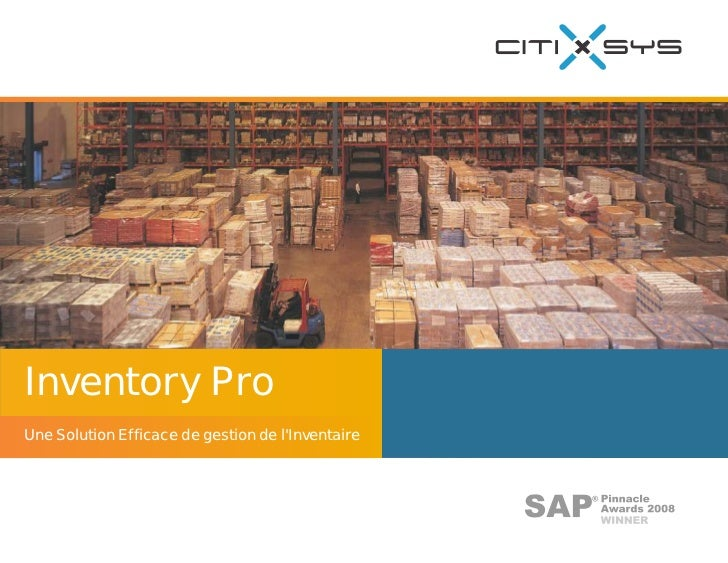Inventory Pro (French) for Sap Business One - Product Brochure - France