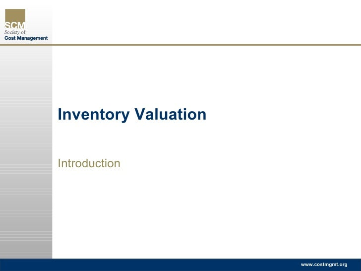 Inventory Valuation Introduction