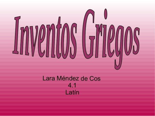 Lara Méndez de Cos4.1Latín