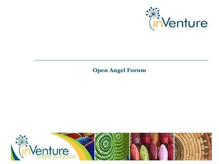 In Venture Presentation Open Angel Forum