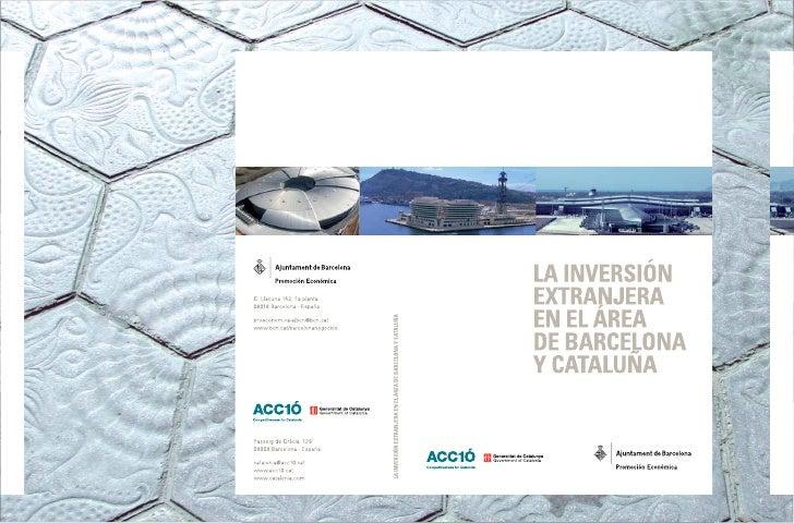 La inversión extranjera en el área de Barcelona y Cataluña