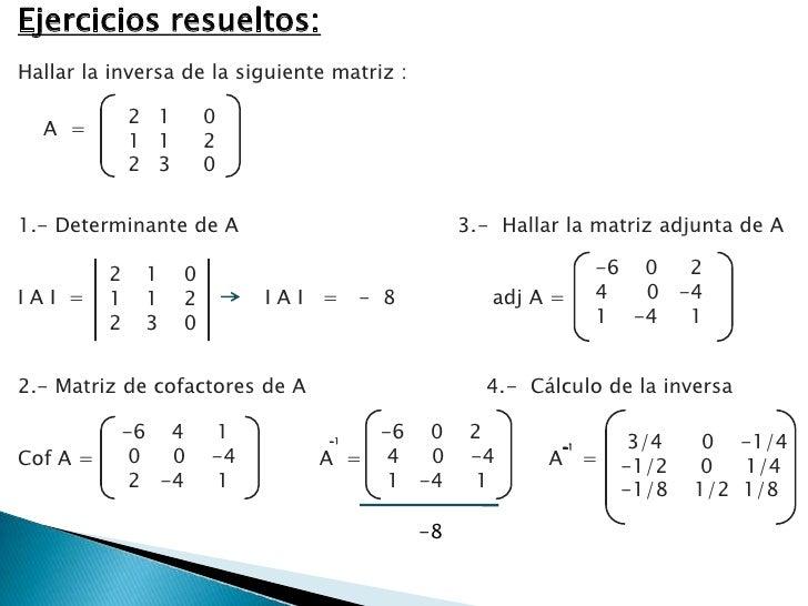 Inversa de una matriz