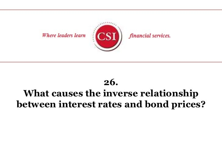 26. <br />What causes the inverse relationship between interest rates and bond prices?<br />
