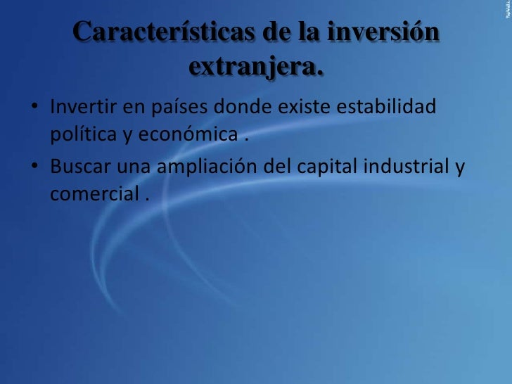 Inversion extranjera directa for Politica extranjera